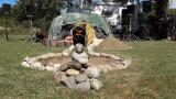 Inipi Experience - Osho Inipi Circle con Arshad Moscogiuri e OIC Staff - L'Inipi camp è pronto, con tanto di impianto audio ai lati per le varie sessioni open air